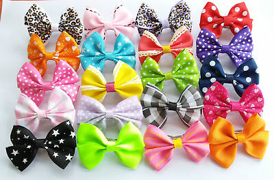 10pc Pet Small Dogs Bowknot Hair Bows Clips Baby Girls Hairclips Accessories