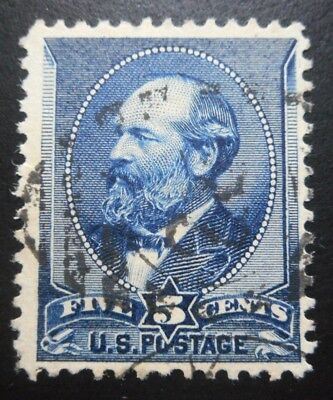 U.S.Stamp:Scott#216, 5c, Indigo, The American Banknote Co., issue of 1888