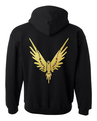 Gold bird logang style hoodie logan paul ideal gift