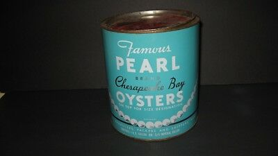 Famous Pearl Chesapeake Bay Oyster Can / Annapolis,MD - Nice Condition!