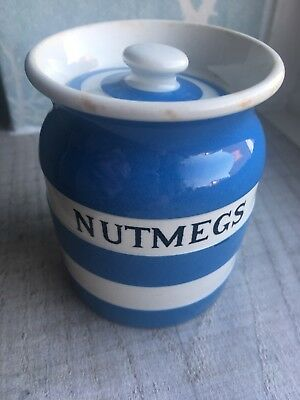 "T G Green Cornishware ""NUTMEGS"" RARE Spice Jar"
