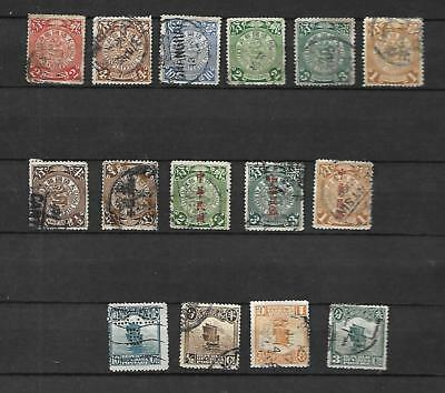 CHINE 1898 - 1913    Dragons et Jonques  LOT