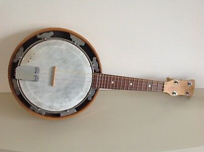 Vintage 4 string Ukelele Banjo by George Houghton & Son vgc with resonator