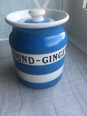 "T G Green Cornishware ""GROUND-GINGER"" RARE Spice Jar"