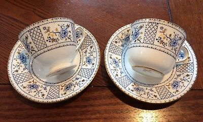 Royal Crown Derby 2 Cups And Saucers Mandarin