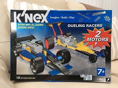 KNEX, Dueling Racers, 2 Motors, 7 years +, New in Box