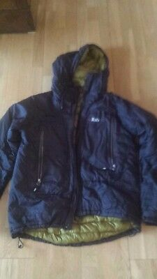 RAB Microlight Alpine Event down duvet belay jacket Large