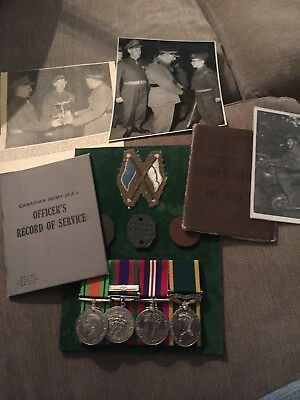 ww2 Canada Long Service Medal Group To A Officer