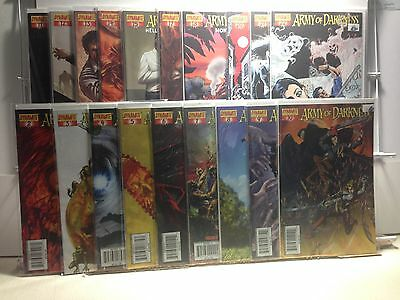 PRIMO:  ARMY of DARKNESS #2 to 22 (missing 16, 19) From the Ashes Dynamite b15