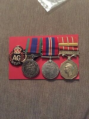 ww2 Canada Air Force Medal Group To A Officer