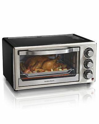 Hamilton Beach 31512 Convection 6-Slice Toaster Oven Black and Stainless Steel
