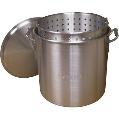 KING KOOKER 32-QUART ALUMINUM POT w/ BASKET AND LID