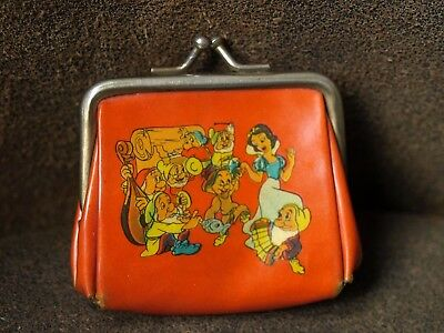 Vintage Walt Disney Snow White Childs Plastic Purse 1950s 40s W.D.P Marked