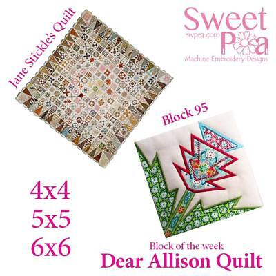 Dear Allison quilt block 95  and bonus border block 96