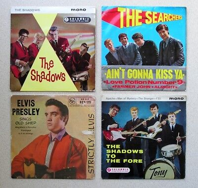 Collection of  18 EP's from 1950's and 1960's - Elvis, Cliff, Shadows +
