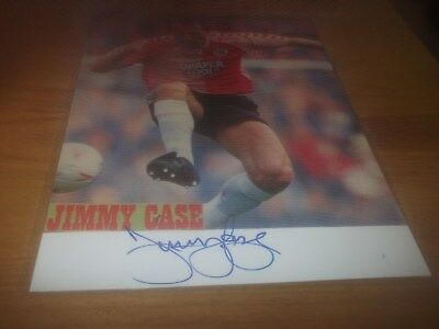 Jimmy Case Liverpool Brighton Bournemouth Halifax Wrexham  Signed Card