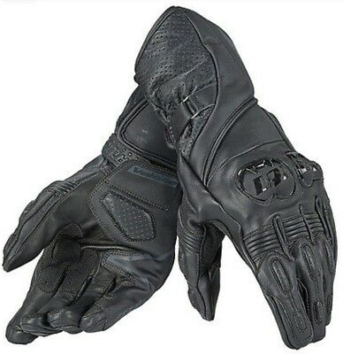Dainese Veloce Gloves Black Leather Mens Motorbike Motorcycle Gloves S - XXL NEW