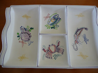 Vintage - Poole Pottery Sectional Hors D Oeuvres Dish
