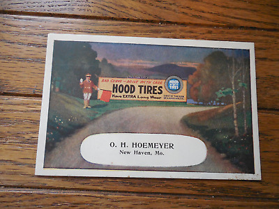 Vintage Advertising Ink Blotter Hood Tires New Haven Tire Automobile Auto Car
