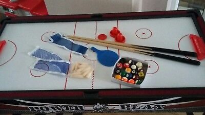 kids multi game table 4ft x 2ft stands 31 inches tall
