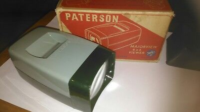 Original Vintage Paterson Majorview 6x6 Slide Viewer Boxed Made in England