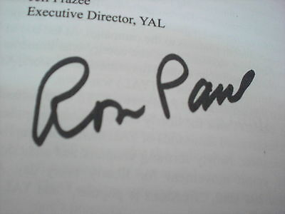 Ron Paul Signed Declaration Of Independence Proof