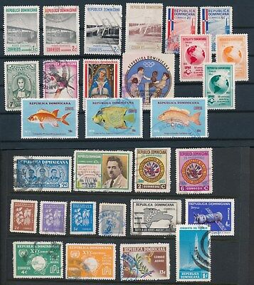 Dominican Republic **30 DIFFERENT 1960's-70's**; ISSUES AS SHOWN; POSTALLY USED