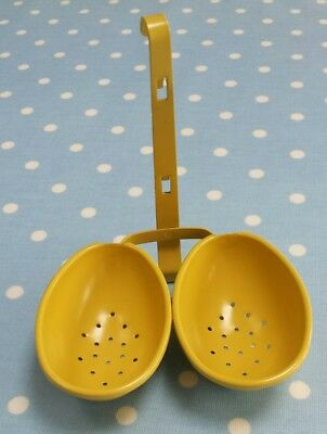 Sunshine Yellow Double Egg Poacher Excellent Condition