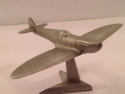 SPITFIRE PLANE, by ROYAL HAMPSHIRE, TRENCH ART STYLE, on DISPLAY STAND.