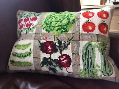 Needlepoint Tapestry Cushion Complete
