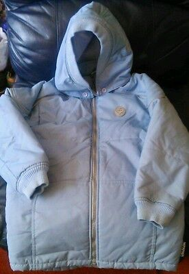 Girls lovely Winter pale blue coat. Immaculate. Adams aged 10 years.