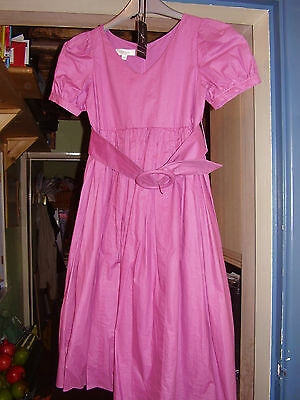 BNWT GIRLS DARK PINK PARTY DRESS. Age 9-10yrs. LINEA at  House of Fraser.