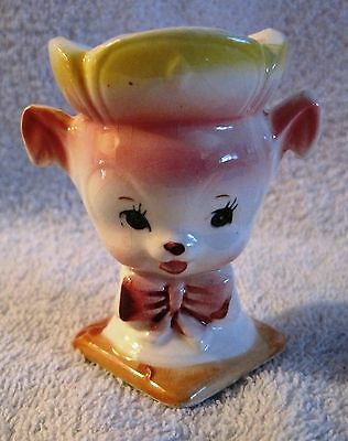 Beautiful - Vintage - Animal Egg Cup - Pink Puppy - From Japan - Great Gift!!