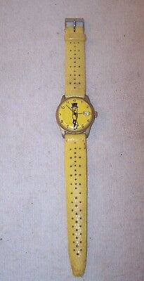 Nice Old Vintage Mr. Peanut Wristwatch - Swiss Made Watch - Original Band - NR