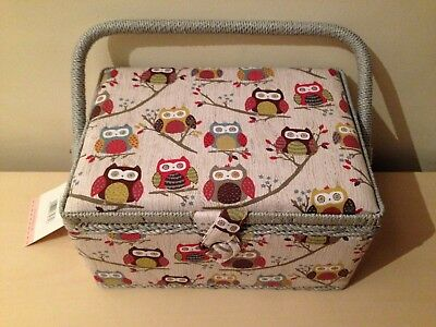 Sewing box Medium by Hobbgift - fabric Sewing basket with removable tray
