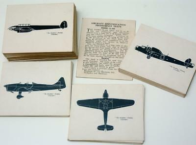 Wwii Aircraft Recognition Cards Complete Set Observer Corps Class 3 Proficiency