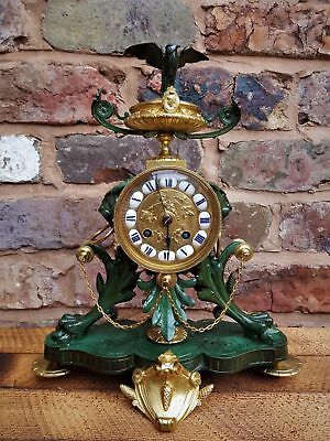 Rare beautiful FULL SERVICED, Antique French mantel clock By Lay Paris circa1880