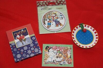 Mary Engelbreit Plate Magnets Note Pad Lot of 4