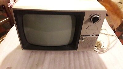 vintage Sony black and white tv