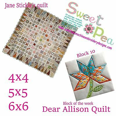 Machine Embroidery Pattern Dear Allison 10