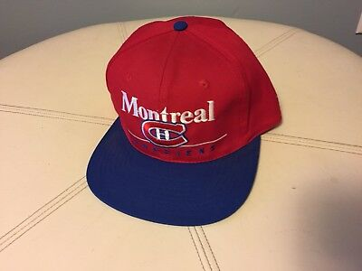 9d303ca2894bba Vintage 90s MONTREAL CANADIENS SnapBack Hat NEW NHL Baseball Cap Canadian