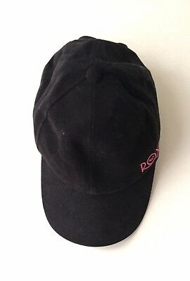 Roxy Ladies Womens Baseball Running Sport Black Cap Hat Adjustable Size