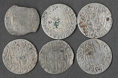 1620's Silver 1/24 Thaler Rare Very Old Antique European Medieval Era Coin Lot