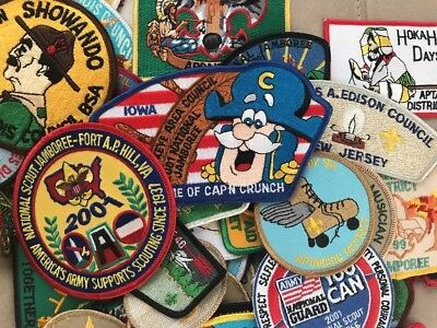 Huge Lot Boy Scout National Jamboree Patches And Coins, Great Condition