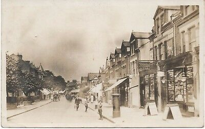 Super 1914 RP: WANDSWORTH Barmouth Road Post Office & shops