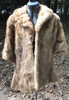 Vintage Davison Mink Fur Stole Wrap Cape And Marche Hat