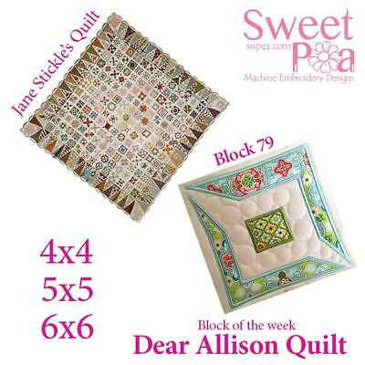 Machine Embroidery Pattern Dear Allison block 79