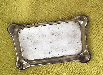 """Antique S.Kirk & Sons Sterling Silver Calling Card Tray 2.5"""" x 3.5"""""""