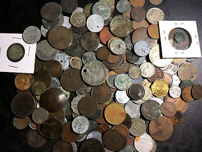 Lot of nearly 2 lbs of Cull Coins - Mostly Foreign - Ancient to Modern