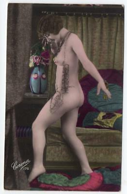 1900s Real Photo  Corona Nude French Postcard 175